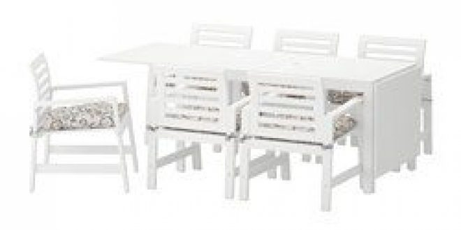 Pplar table 6 chaises accoud ext rieur blanc steg n for Exterieur in french