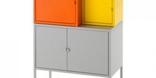 Lixhult Storage Combination Orangeyellow Gray Ikeapedia