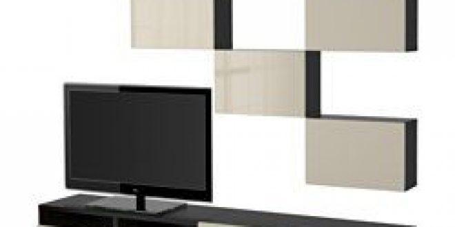 best combinaison meuble tv brun noir selsviken brillant beige ikea france ikeapedia. Black Bedroom Furniture Sets. Home Design Ideas