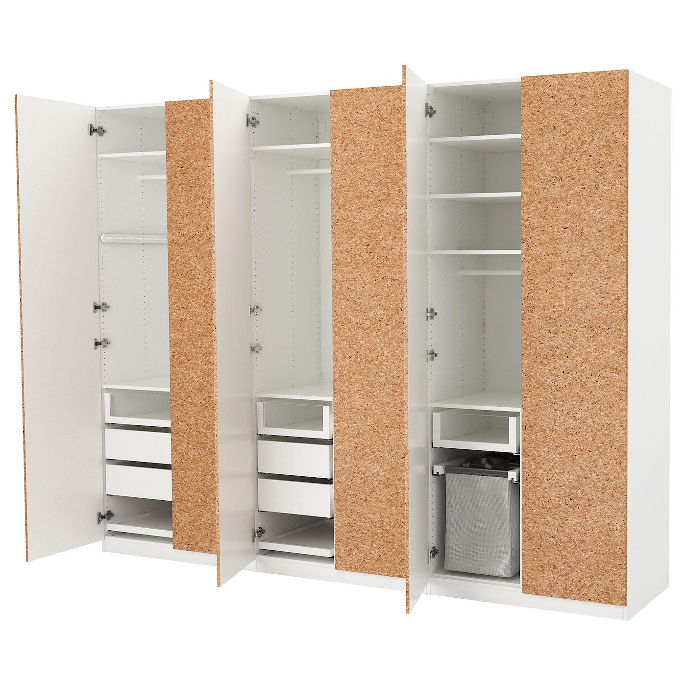 Pax Wardrobe White Kirkenes Cork Veneer Ikea United States