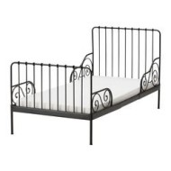 MINNEN Ext Bed Frame With Slatted Base Black Brown IKEA United