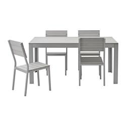 Ikea Tavoli Da Esterno.Falster Tavolo 4 Sedie Da Giardino Grigio Ikea Italy Ikeapedia
