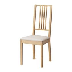 IKEA BÖRJE Chaise en blanc, Housse amovible Sable Kungsvik