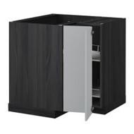 metod l ment bas angle rgt pivotant noir veddinge gris ikea france ikeapedia. Black Bedroom Furniture Sets. Home Design Ideas