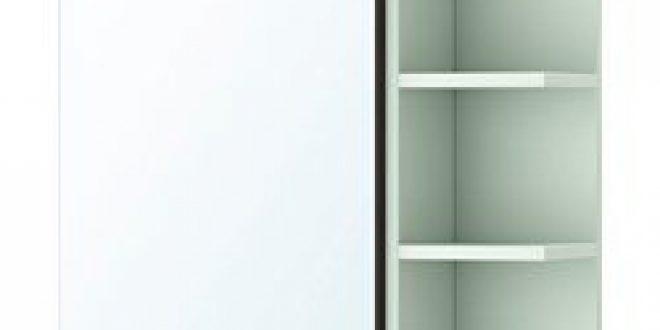 Lill ngen mobile a specchio 1 anta 1 scaffale marrone nero - Lillangen specchio ...