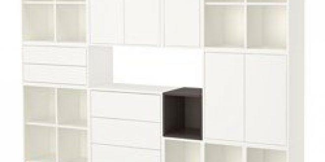 Eket combinazione di mobili con gambe bianco grigio scuro ikea italy ikeapedia - Gambe mobili ikea ...