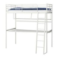 Betere TROMSÖ Loft bed frame with desk top white (IKEA United States RP-14