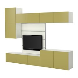 best framst combinaison meuble tv blanc vert clair ikea france ikeapedia. Black Bedroom Furniture Sets. Home Design Ideas