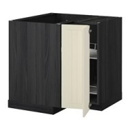 metod l ment bas angle rgt pivotant noir kroktorp blanc cass ikea france ikeapedia. Black Bedroom Furniture Sets. Home Design Ideas