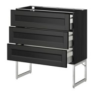 metod maximera lt bas 3 faces 3 tiroirs moyens noir laxarby brun noir ikea belgium ikeapedia. Black Bedroom Furniture Sets. Home Design Ideas