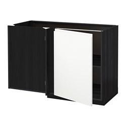 metod corner base cabinet with shelf black voxtorp white ikea united kingdom ikeapedia. Black Bedroom Furniture Sets. Home Design Ideas