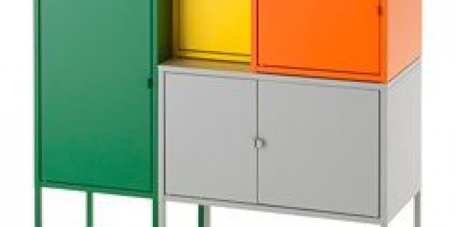 Lixhult Storage Combination Greengray Orangeyellow Ikeapedia