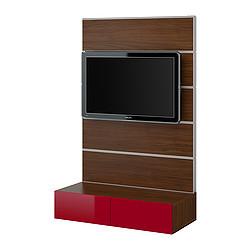 Best framst tv storage combination walnut effect high for Ikea besta instructions de montage