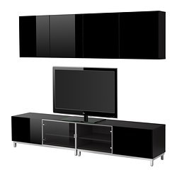 best combinaison meuble tv brun noir brillant noir ikea france ikeapedia. Black Bedroom Furniture Sets. Home Design Ideas