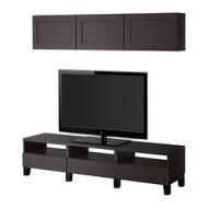 Besta Tv Storage Combination Vassbo Black Brown Ikea Canada