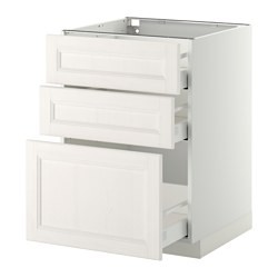 metod maximera base cab 3 fronts 3 medium drawers white laxarby white ikea united kingdom