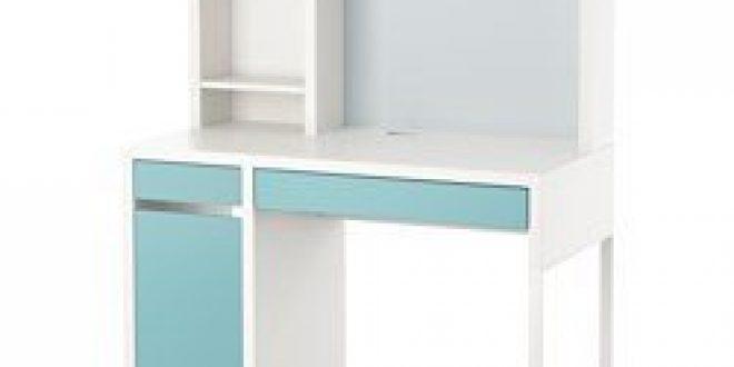 Ikea Scrivania Micke.Micke Mobile Studio Bianco Turchese Chiaro Ikeapedia