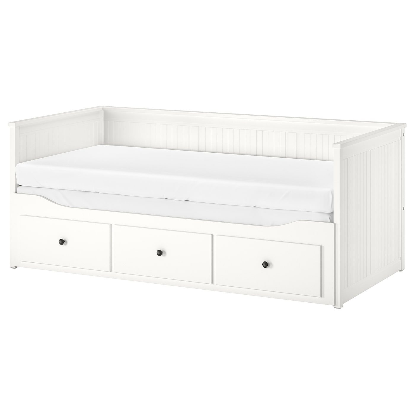 Hemnes Daybed With 3 Drawers 2 Mattresses White Meistervik Firm Ikeapedia