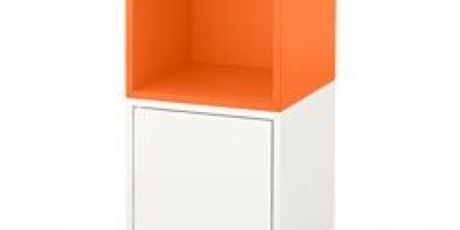 Eket Storage Combination With Legs White Orange Ikea United States