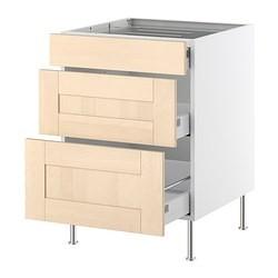 faktum base cabinet f hob 3 drawers del birch ikea united kingdom ikeapedia. Black Bedroom Furniture Sets. Home Design Ideas