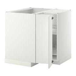 Metod Corner Base Cabinet With Carousel White Haggeby White Ikeapedia