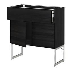 metod maximera l bas tablette tiroir 2portes noir tingsryd noir ikea belgium ikeapedia. Black Bedroom Furniture Sets. Home Design Ideas