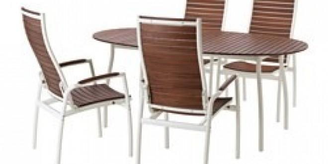 Vindals tavolo 4 sedie relax da giardino bianco mordente marrone ikea italy ikeapedia - Sedie relax ikea ...