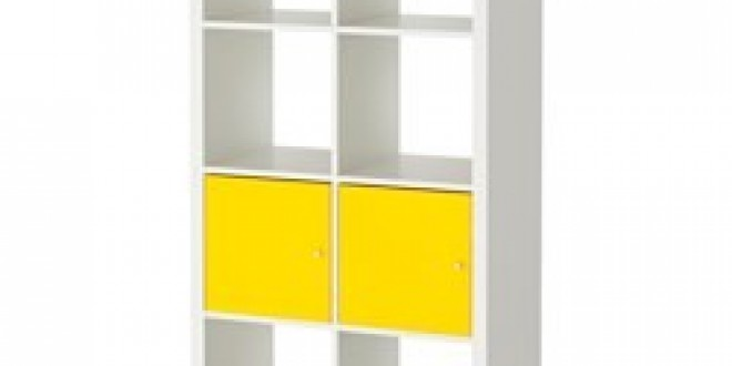 kallax tag re avec portes blanc jaune ikea france ikeapedia. Black Bedroom Furniture Sets. Home Design Ideas