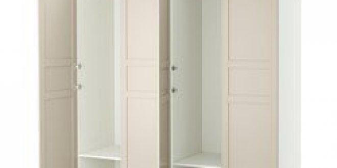 PAX Armoire-penderie blanc, Flisberget beige clair (IKEA ...