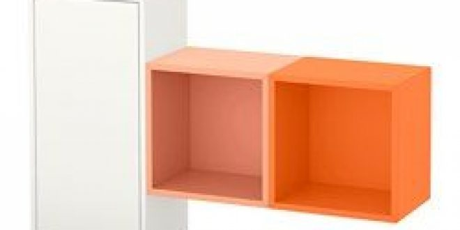 eket wall mounted cabinet combination white orange light orange ikea united states ikeapedia. Black Bedroom Furniture Sets. Home Design Ideas