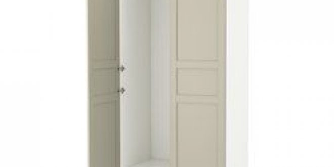 pax armoire penderie blanc flisberget beige clair ikea france ikeapedia. Black Bedroom Furniture Sets. Home Design Ideas