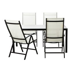 AmmerÖ Table And 4 Chairs Dark Brown