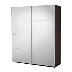 pax armoire pte coul brun noir auli miroir ikea france notice de montage ikeapedia. Black Bedroom Furniture Sets. Home Design Ideas