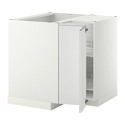 metod corner base cabinet with carousel white nodsta white ikea united kingdom ikeapedia. Black Bedroom Furniture Sets. Home Design Ideas