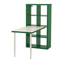 Scrivania Ikea Bianca.Kallax Combinazione Con Scrivania Bianco Verde Ikeapedia