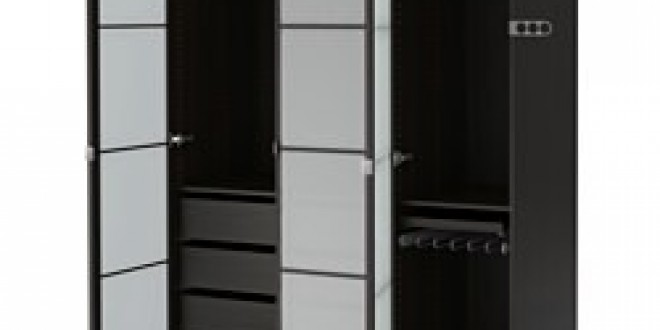 Pax Wardrobe Black Brown Fevik Frosted Glass Ikea United