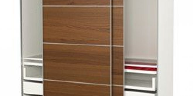 Pax Wardrobe White Ilseng Brown Stained Ash Veneer Ikea