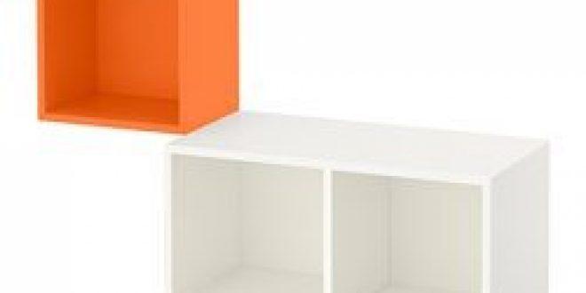 EKET Combinaison rangement murale orange, blanc (IKEA Switzerland) - IKEAPEDIA