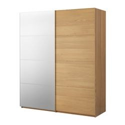 pax armoire portes coulissantes malm miroir ch ne ikea france ikeapedia. Black Bedroom Furniture Sets. Home Design Ideas