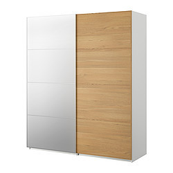 pax armoire portes coulissantes blanc malm miroir ch ne ikea switzerland ikeapedia. Black Bedroom Furniture Sets. Home Design Ideas