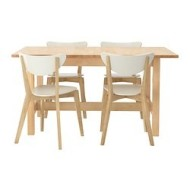norden nordmyra table et 4 chaises bouleau blanc ikea france ikeapedia. Black Bedroom Furniture Sets. Home Design Ideas