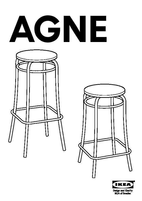 Agne Tabouret De Bar Noir Ikea France Ikeapedia