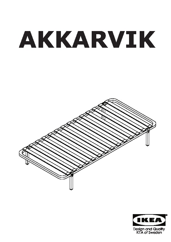 Akkarvik cadre de lit 4 pieds ikea france ikeapedia - Pied de lit ikea ...