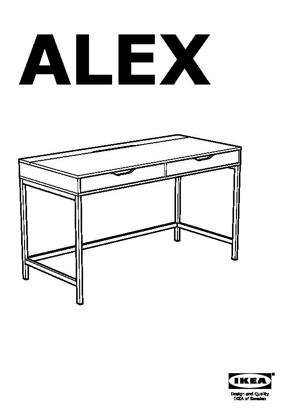 Alex Desk Grey Ikea United Kingdom