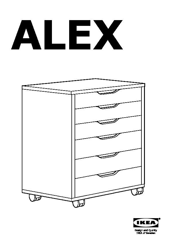ALEX Drawer unit on casters white (IKEA United States