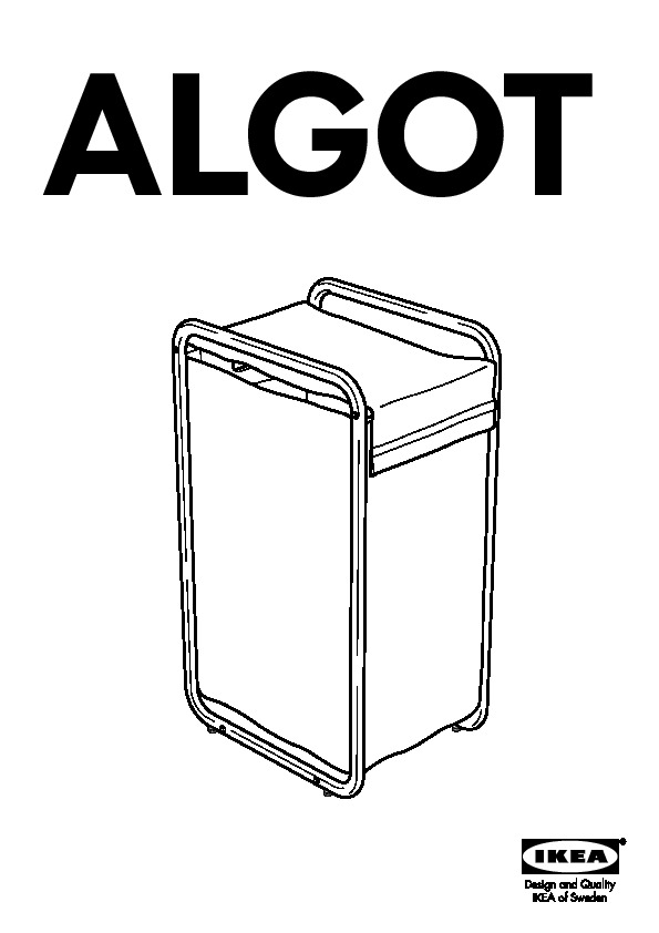 ALGOT Laundry bag with frame/casters white (IKEA United States ...