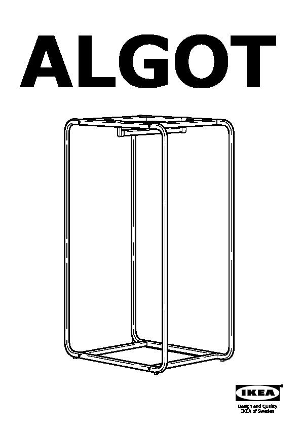 algot structure avec barre corbeilles fil blanc ikea france ikeapedia. Black Bedroom Furniture Sets. Home Design Ideas