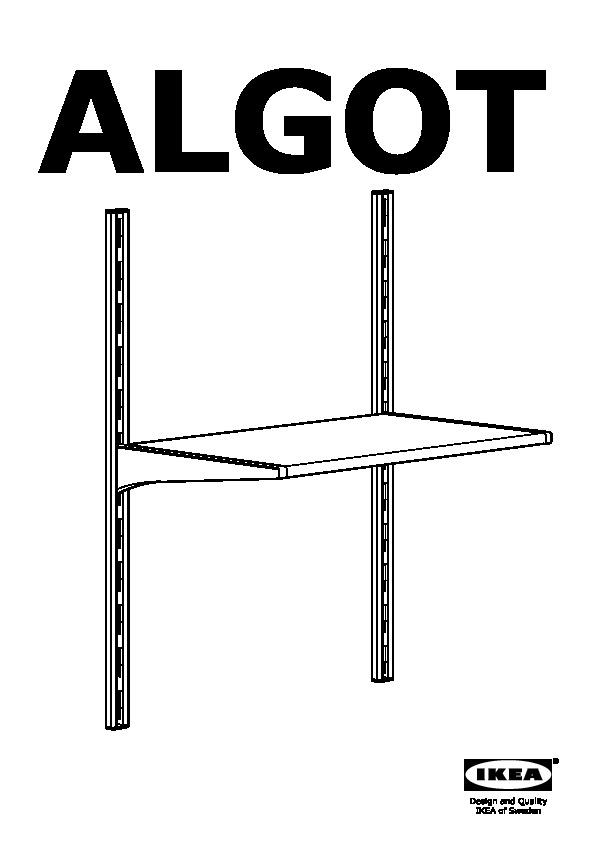 ALGOT Wall upright/shelves/rod white (IKEA United States