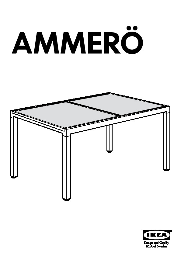 ammer table rallonge brun fonc beige ikea france ikeapedia. Black Bedroom Furniture Sets. Home Design Ideas