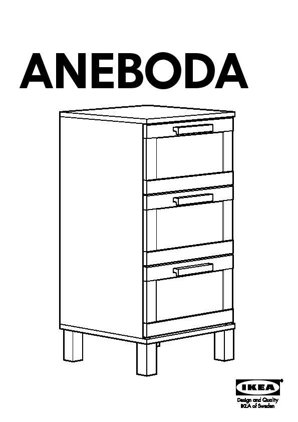 Aneboda commode 3 tiroirs blanc ikea france ikeapedia for Meuble 4 tiroirs ikea